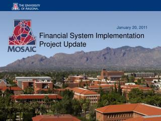 Financial System Implementation Project Update