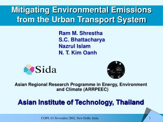 Mitigating Environmental Emissions from the Urban Transport System