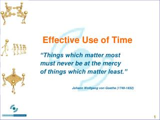 Effective Use of Time