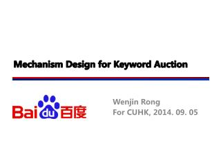 Mechanism Design for Keyword  Auction