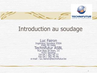 Introduction au soudage