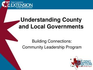 Understanding County and Local Governments