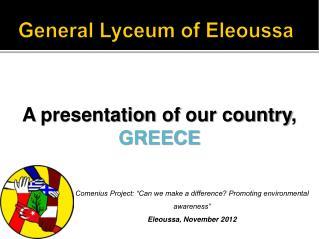General Lyceum of Eleoussa