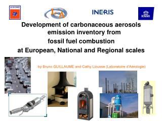 Development of carbonaceous aerosols emission inventory fromfossil fuel combustionat European