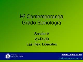 Hª Contemporanea Grado Sociología