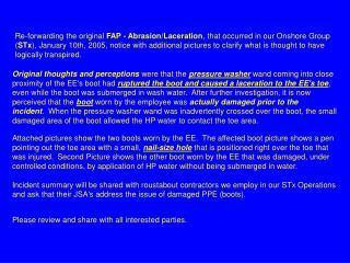 Re-forwarding the original FAP - Abrasion