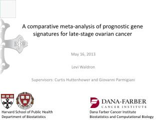 A comparative meta-analysis of prognostic gene signatures for late-stage ovarian  cancer
