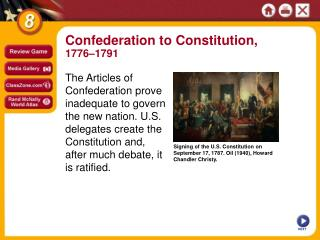 Signing of the U.S. Constitution on September 17, 1787. Oil (1940), Howard Chandler Christy.