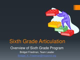 Sixth Grade Articulation