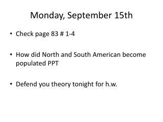 Monday, September 15th