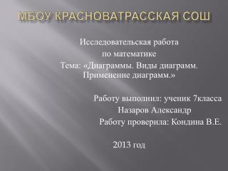 МБОУ  Красноватрасская  СОШ