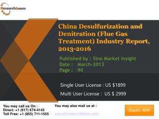 China Desulfurization and Denitration (Flue Gas Treatment)