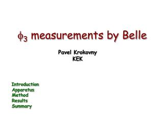 f 3  measurements by Belle