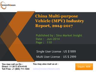 China Multi-purpose Vehicle (MPV) Market Size 2014-2017