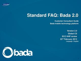Standard FAQ: Bada 2.0