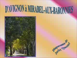 D'AVIGNON à MIRABEL-AUX-BARONNIES