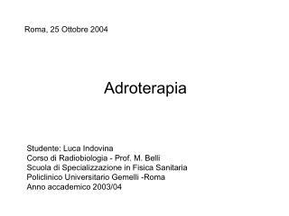 Adroterapia