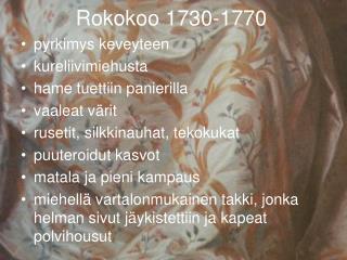 Rokokoo 1730-1770