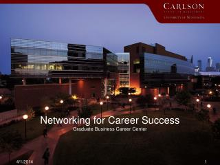 Networking for Career Success  Graduate Business Career Center
