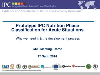 Prototype IPC Nutrition Phase Classification for Acute Situations