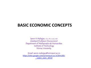 Samir  K  Mahajan ,  M.Sc ,  Ph.D.,UGC -NET Assistant Professor (Economics)