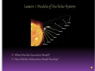 Lesson 1: Models of the Solar System