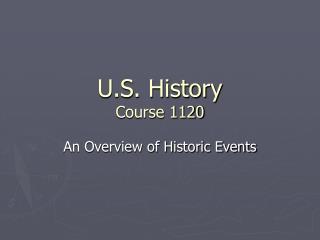 U.S. History Course 1120