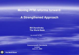 Moving PFM reforms forward:  A Strengthened Approach