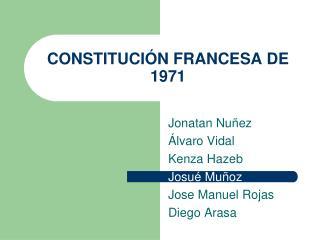 CONSTITUCIÓN FRANCESA DE 1971