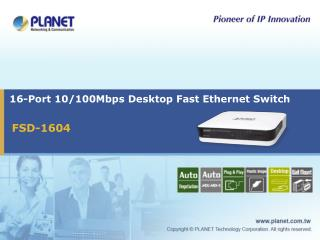 16-Port 10/100Mbps Desktop Fast Ethernet Switch