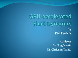 GPU-accelerated  Fluid Dynamics