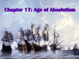 Chapter 17: Age of Absolutism