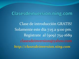 Clases deinversion.ning