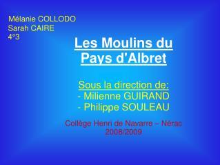 Mélanie COLLODO  Sarah CAIRE  4°3