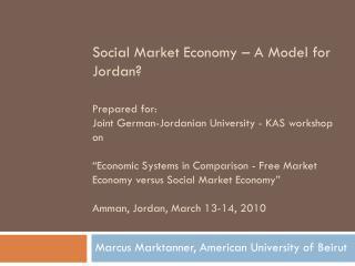 Marcus Marktanner, American University of Beirut