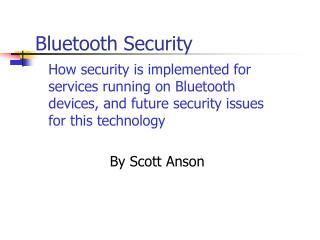 Bluetooth Security