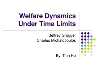 Welfare Dynamics Under Time Limits