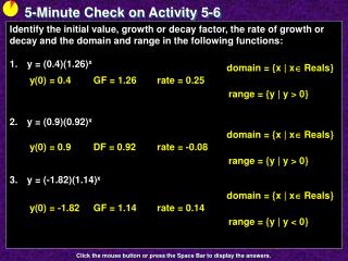 5-Minute Check on Activity  5-6
