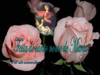 Festa do santo nome de Maria