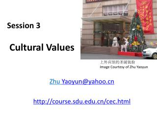 Session 3   Cultural Values