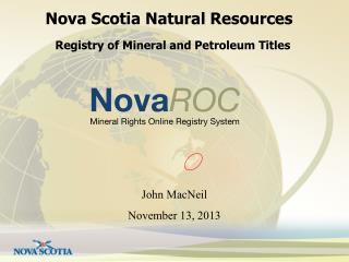 Nova Scotia Natural Resources