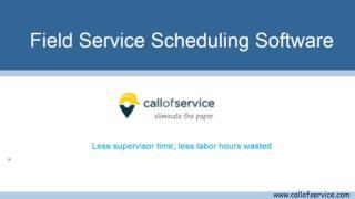 Field Service Scheduling Software