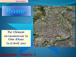 Par  Clément  en vacances sur  la Côte  d'Azur Le 17 Avril  2012