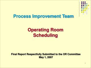 Process Improvement Team