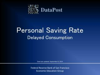 Personal Saving Rate Delayed Consumption