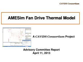 AMESim Fan Drive Thermal Model