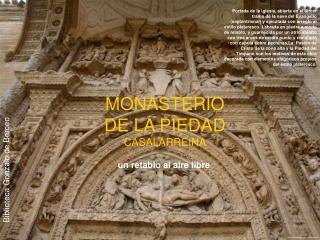 MONASTERIO DE LA PIEDAD CASALARREINA