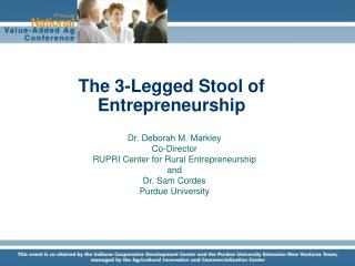 The 3-Legged Stool of Entrepreneurship