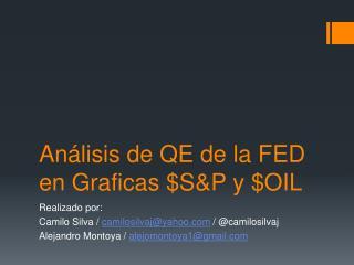 Análisis de QE de la FED en Graficas $S&P y $OIL