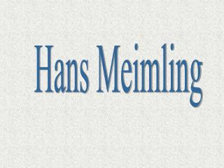 Hans Meimling